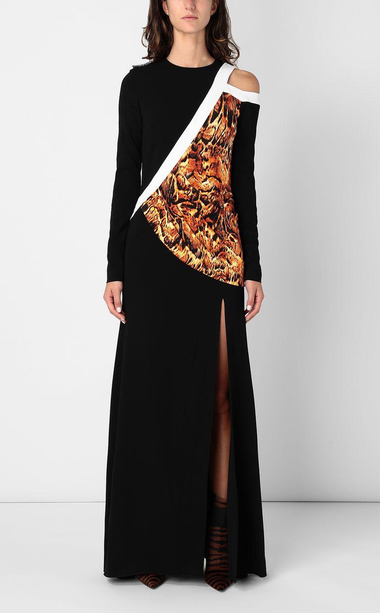 JUST CAVALLI Dress with Siberian-Wolf print Long dress Woman r