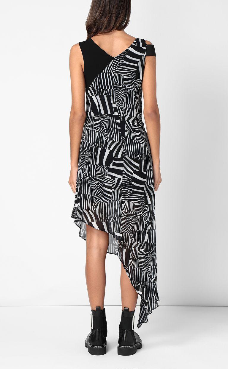 JUST CAVALLI Dress with Patchwork-Zebra print Dress Woman a