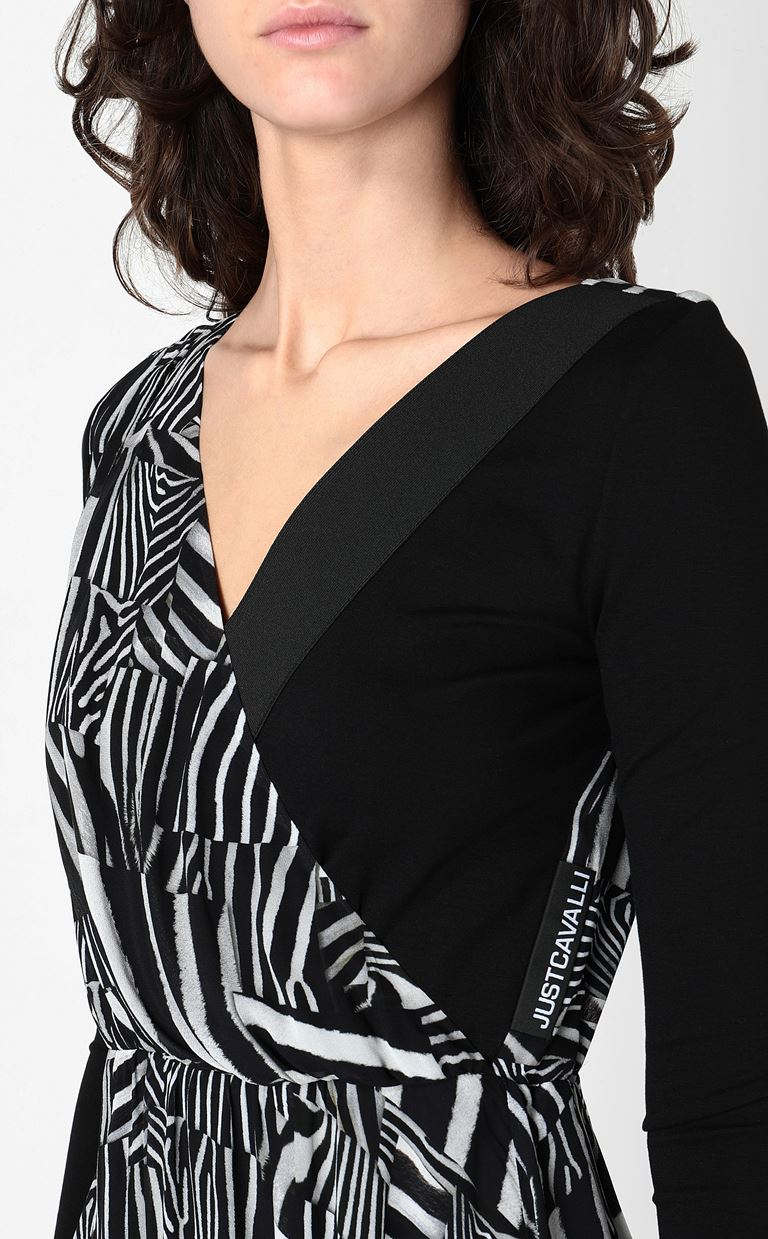 JUST CAVALLI Dress with Patchwork-Zebra print Dress Woman e