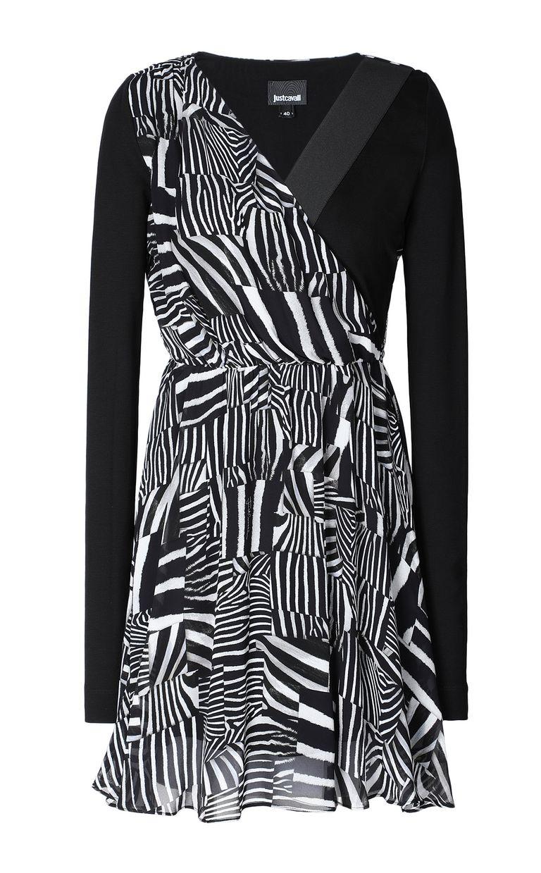 JUST CAVALLI Dress with Patchwork-Zebra print Dress Woman f