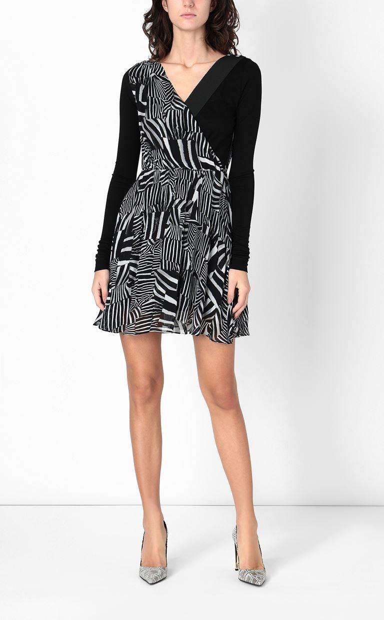 JUST CAVALLI Dress with Patchwork-Zebra print Dress Woman r
