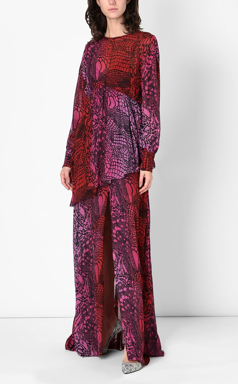 JUST CAVALLI Gown with Reptilia print Long dress Woman d