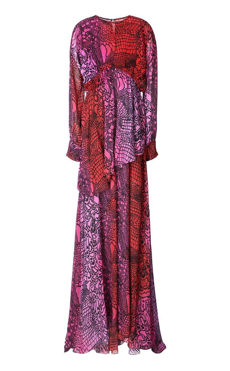 JUST CAVALLI Gown with Reptilia print Long dress Woman f
