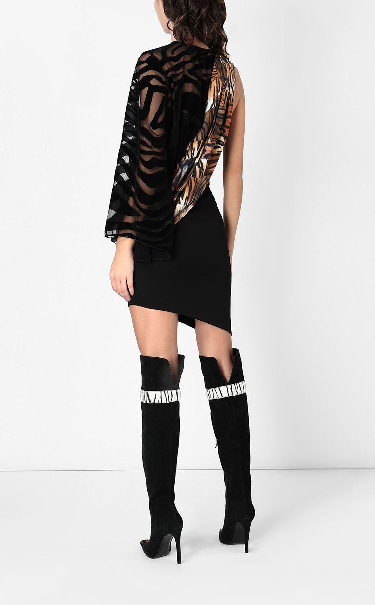 JUST CAVALLI Dress with animal-print sash Short dress Woman a