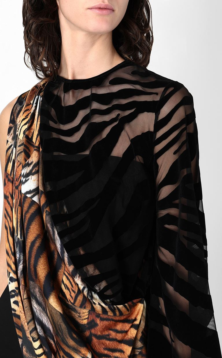 JUST CAVALLI Dress with animal-print sash Short dress Woman e