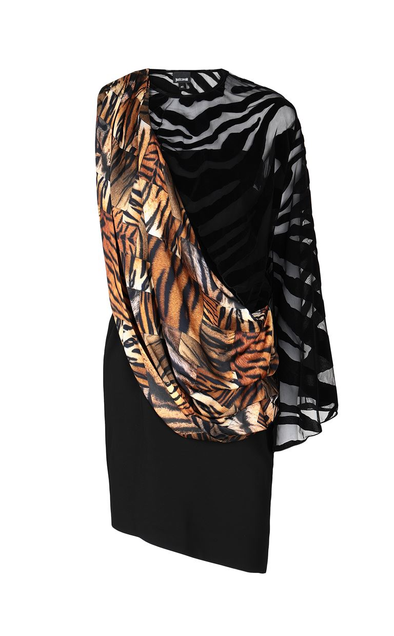 JUST CAVALLI Dress with animal-print sash Short dress Woman f