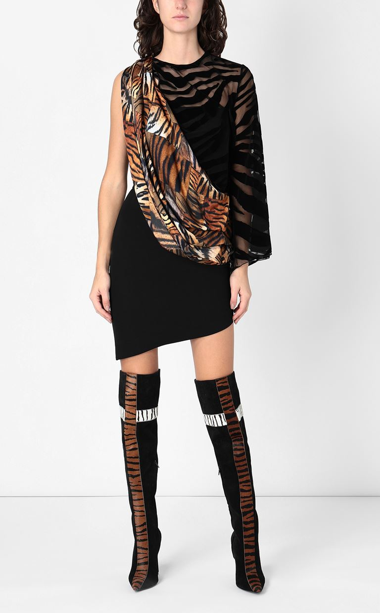 JUST CAVALLI Dress with animal-print sash Short dress Woman r