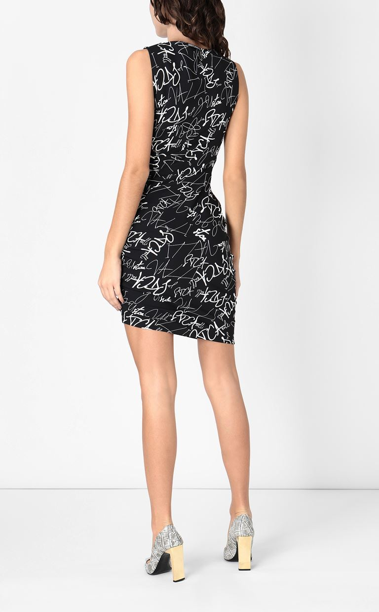 JUST CAVALLI Signature-Confusion-print dress Short dress Woman a