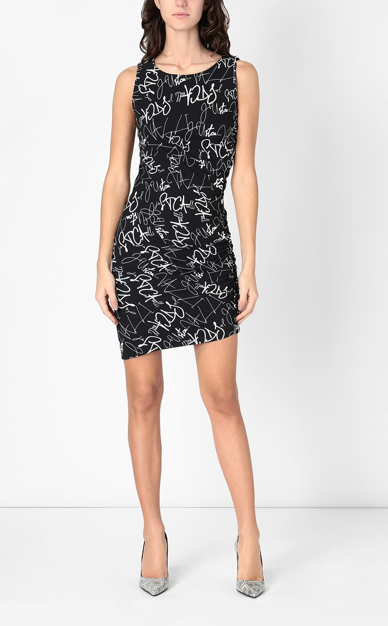 JUST CAVALLI Signature-Confusion-print dress Short dress Woman r