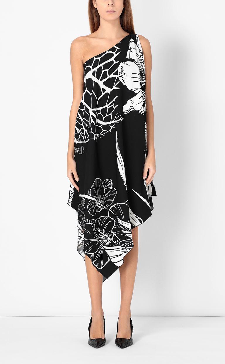 JUST CAVALLI One-shoulder floral-printed dress Dress Woman r