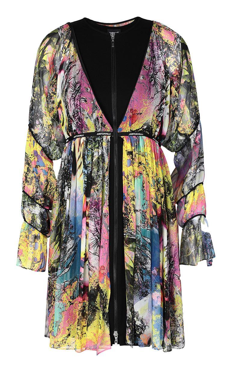 JUST CAVALLI Dress with print design Dress Woman f