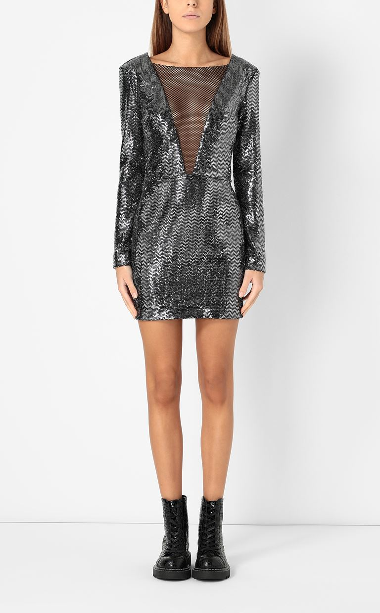 JUST CAVALLI Short dress with sequins Dress Woman r