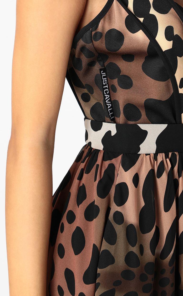 JUST CAVALLI Dress with leopard spots Dress Woman e