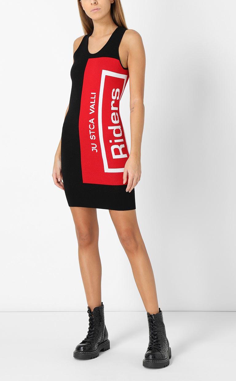 JUST CAVALLI Dress with Riders print design Dress Woman e
