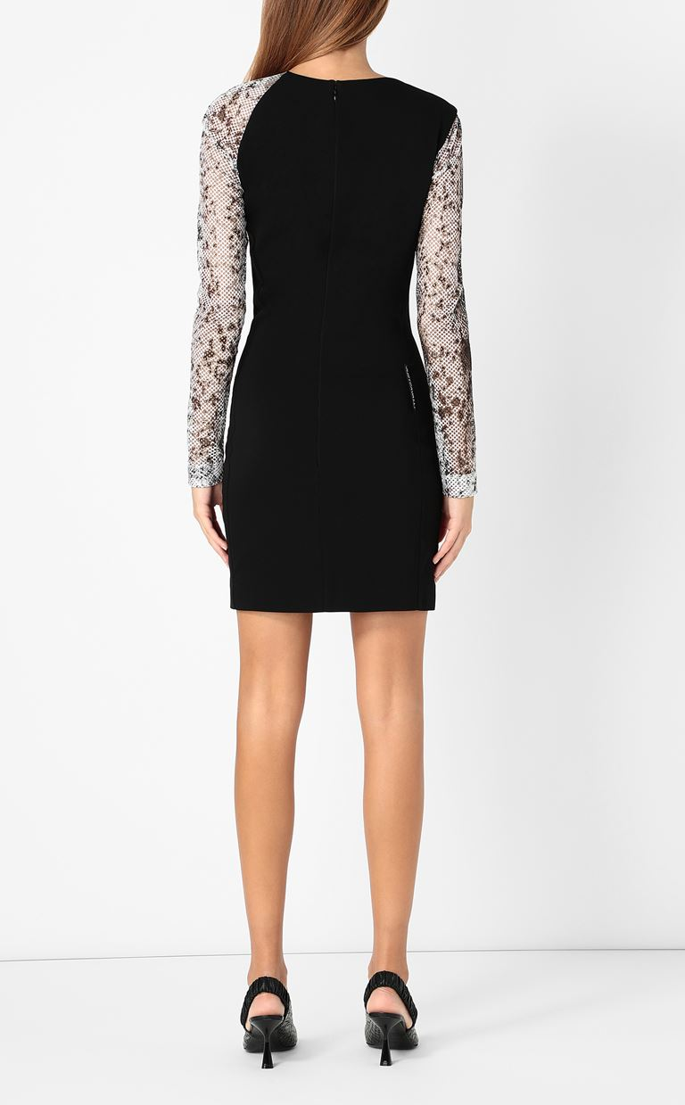 JUST CAVALLI Dress with python detailing Dress Woman a