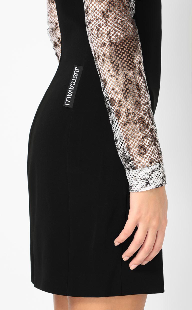 JUST CAVALLI Dress with python detailing Dress Woman e