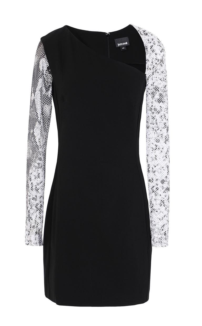 JUST CAVALLI Dress with python detailing Dress Woman f