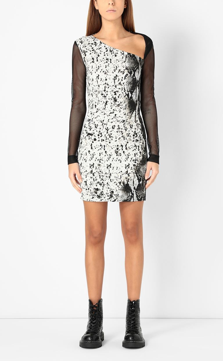 JUST CAVALLI Dress with python print Dress Woman r