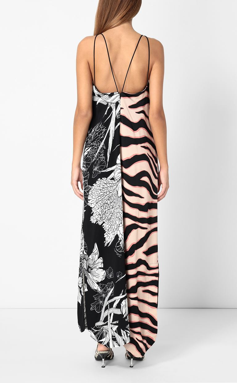 JUST CAVALLI Gown with print design Long dress Woman a