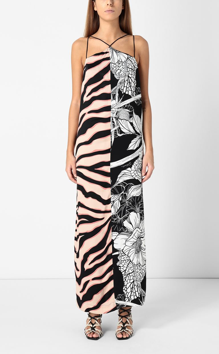 JUST CAVALLI Gown with print design Long dress Woman r