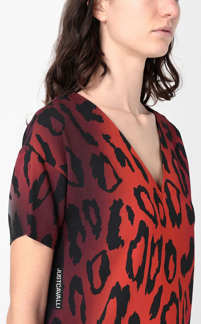 JUST CAVALLI Dress with leopard spots Dress Woman e