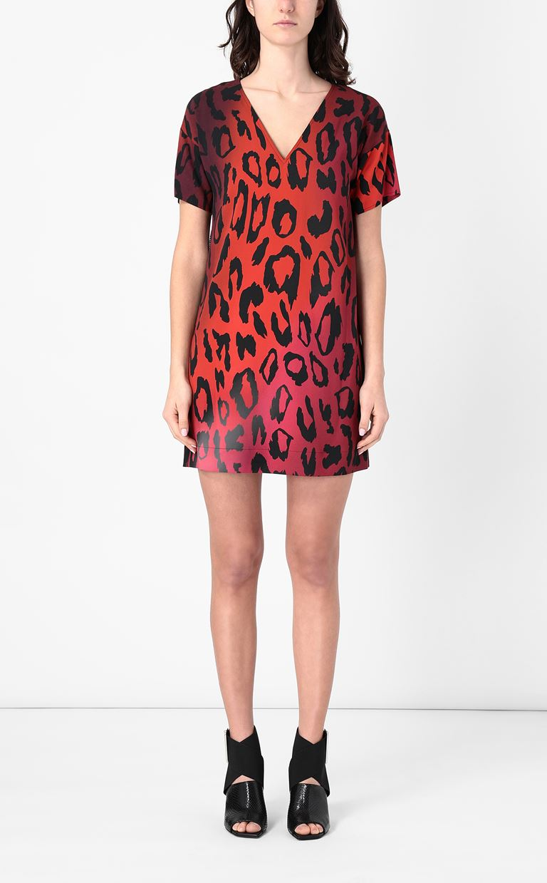 JUST CAVALLI Dress with leopard spots Dress Woman r