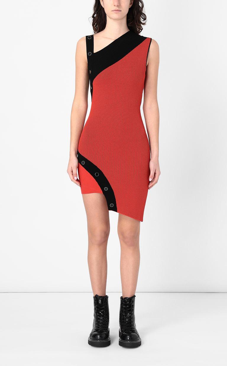JUST CAVALLI Asymmetrical knitted dress Dress Woman r