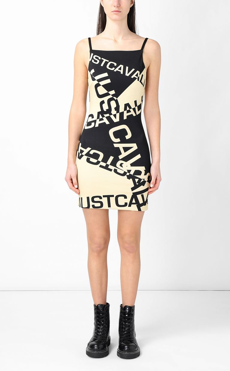 JUST CAVALLI Short dress with logo Dress Woman r