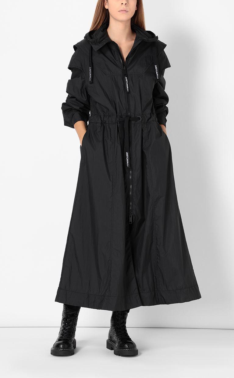 JUST CAVALLI Nylon parka jacket Raincoat Woman d