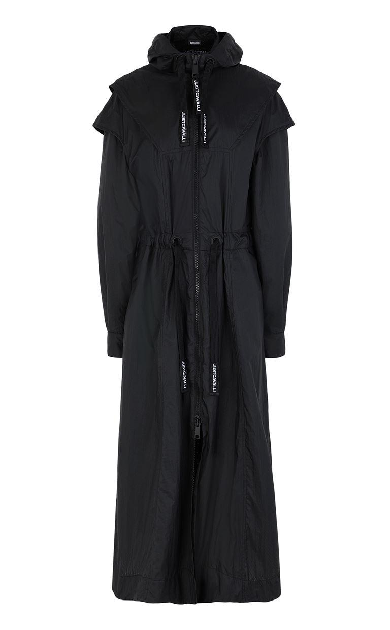 JUST CAVALLI Nylon parka jacket Raincoat Woman f