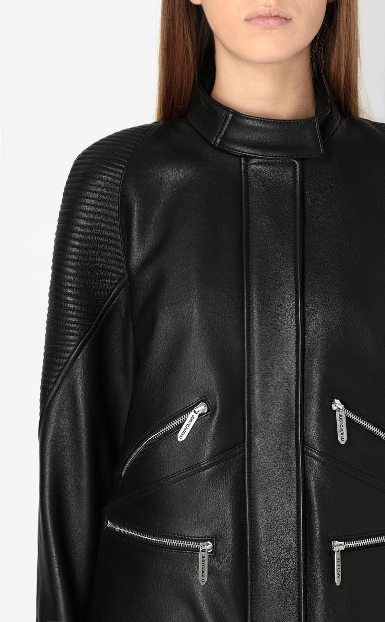 JUST CAVALLI Leather jacket Leather Jacket Woman e