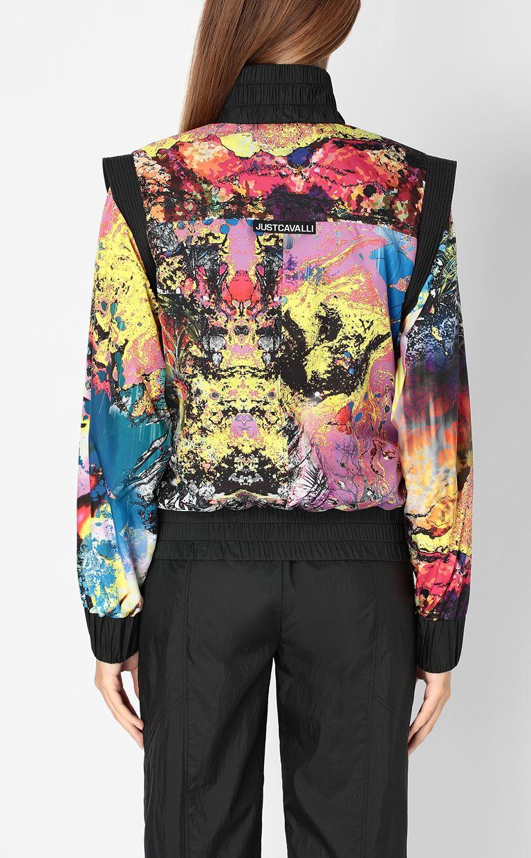 JUST CAVALLI Nylon jacket with print design Jacket Woman a