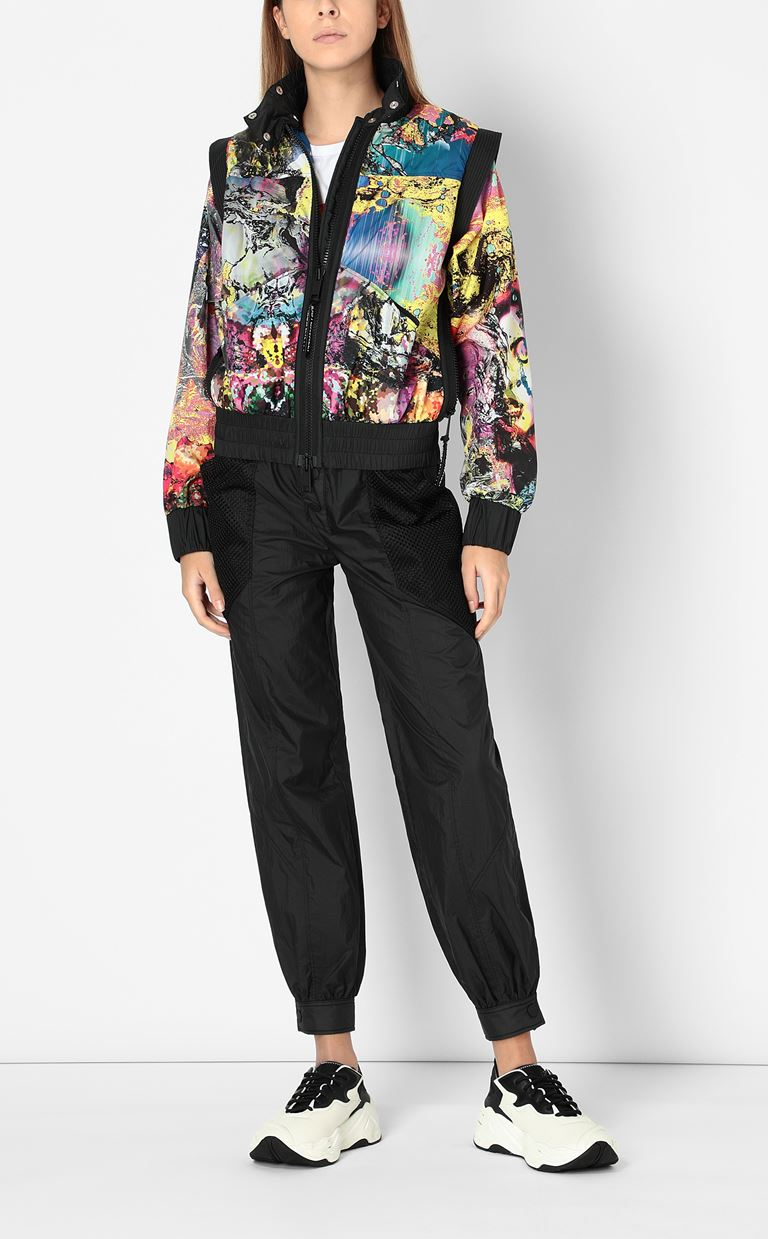 JUST CAVALLI Nylon jacket with print design Jacket Woman d