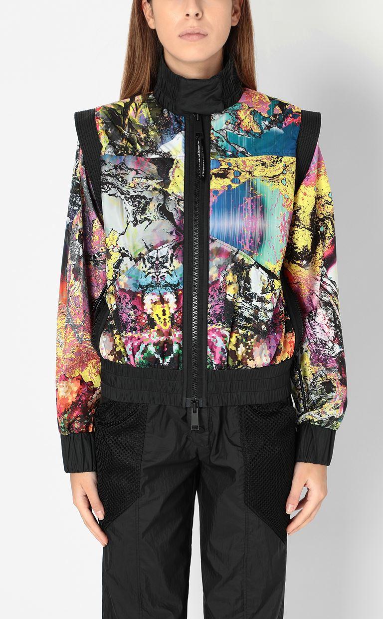 JUST CAVALLI Nylon jacket with print design Jacket Woman r