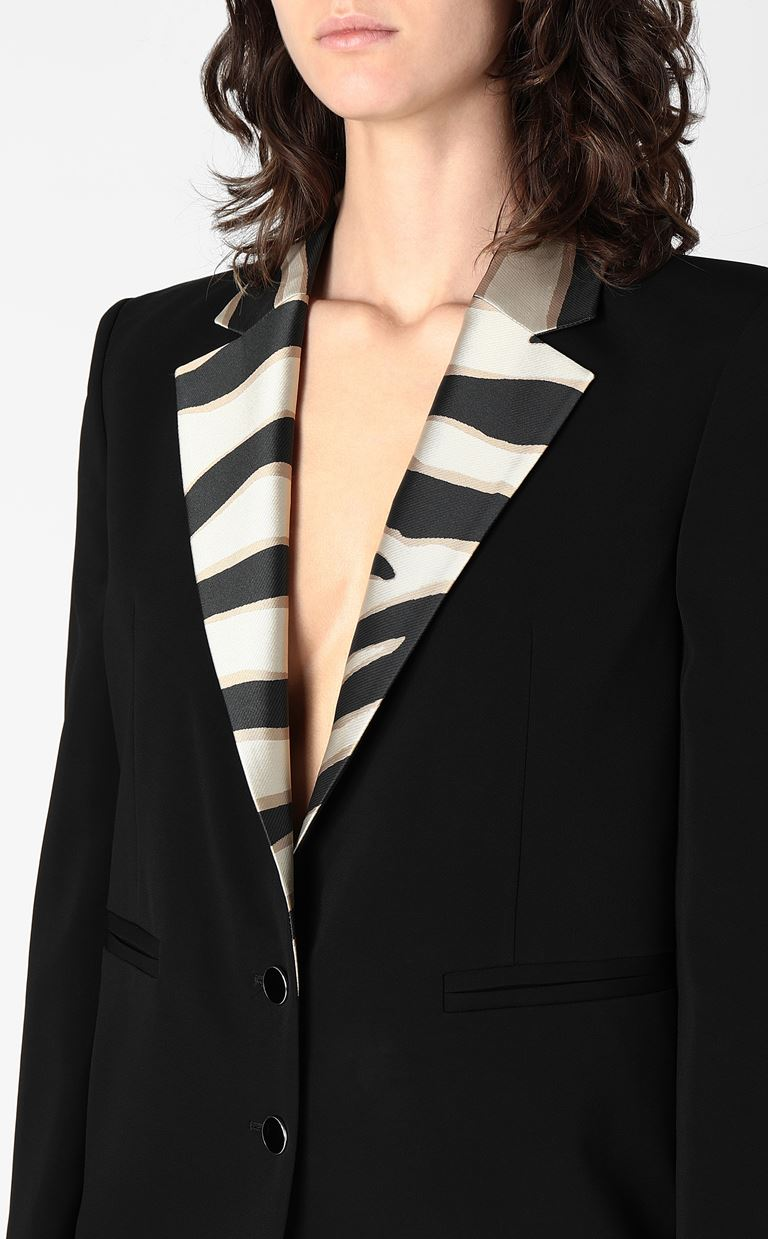 JUST CAVALLI Blazer with contrasting lapels Blazer Woman e