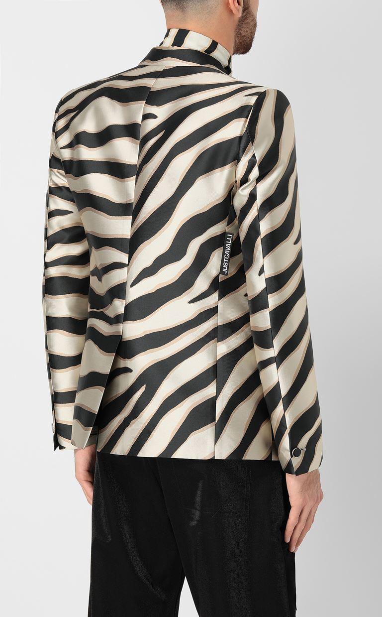 JUST CAVALLI Blazer with zebra-stripe pattern Blazer Man a
