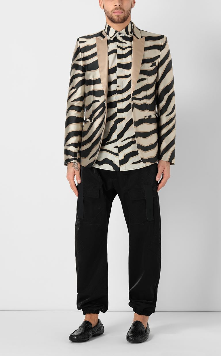 JUST CAVALLI Blazer with zebra-stripe pattern Blazer Man d