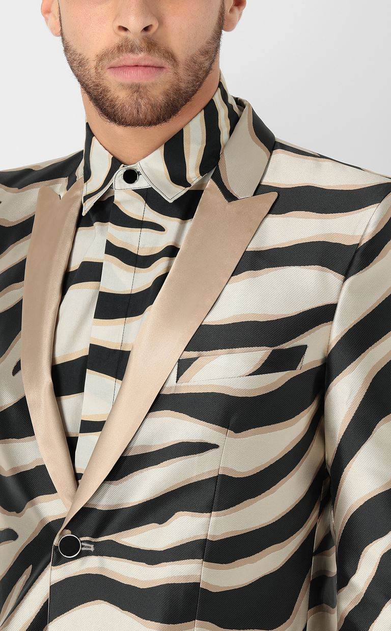 JUST CAVALLI Blazer with zebra-stripe pattern Blazer Man e