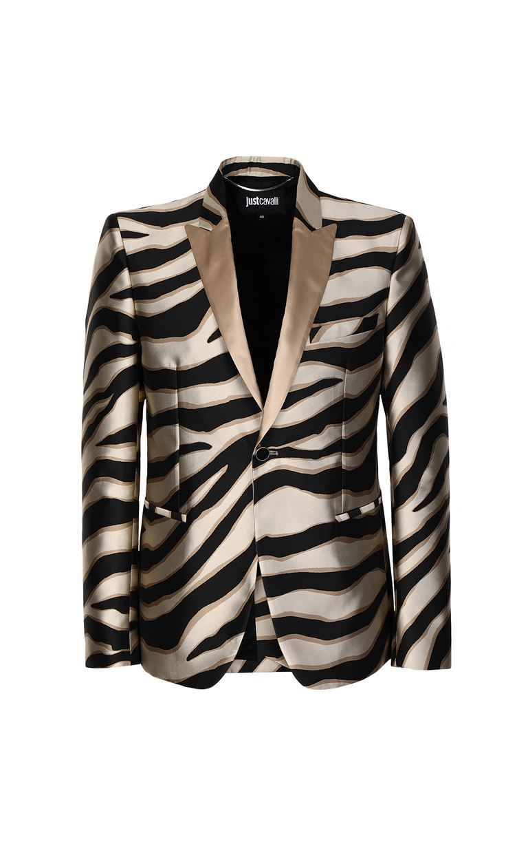 JUST CAVALLI Blazer with zebra-stripe pattern Blazer Man f