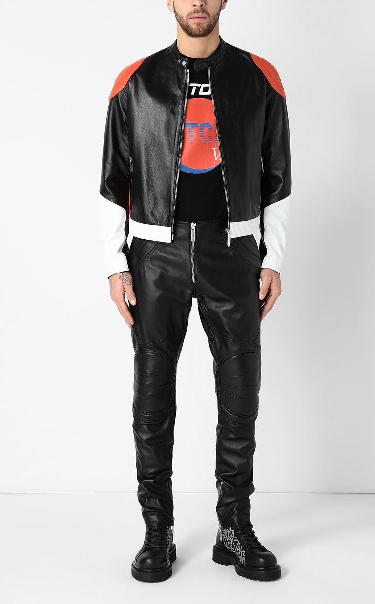 JUST CAVALLI Leather jacket Leather Jacket Man d