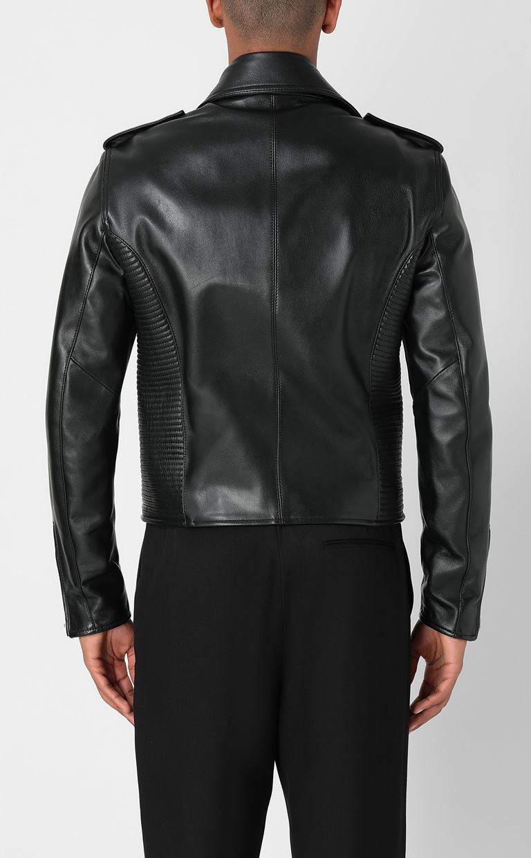 JUST CAVALLI Leather jacket Leather Jacket Man a