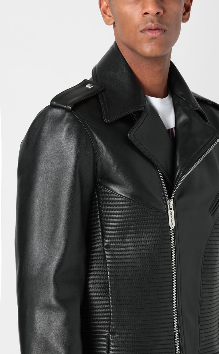 JUST CAVALLI Leather jacket Leather Jacket Man e