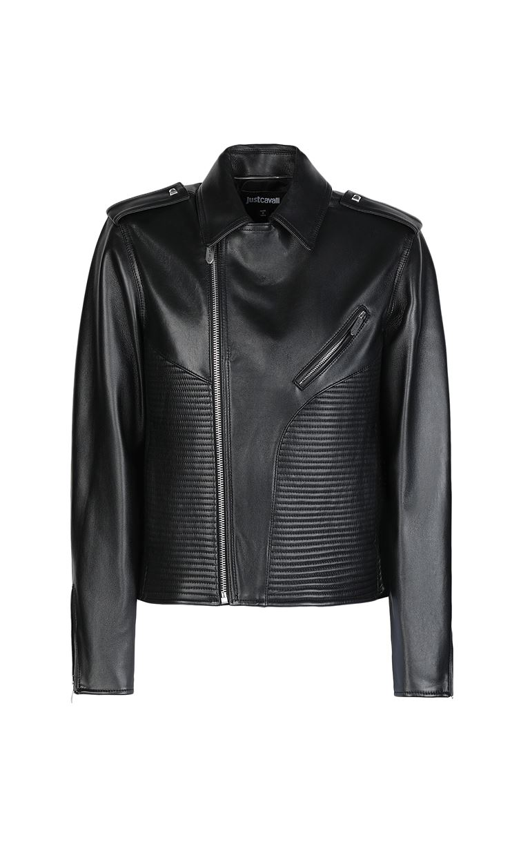 JUST CAVALLI Leather jacket Leather Jacket Man f