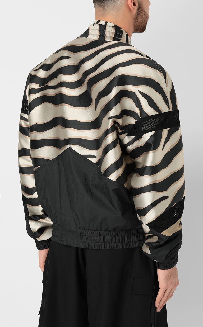JUST CAVALLI Zebra-striped bomber jacket Jacket Man a