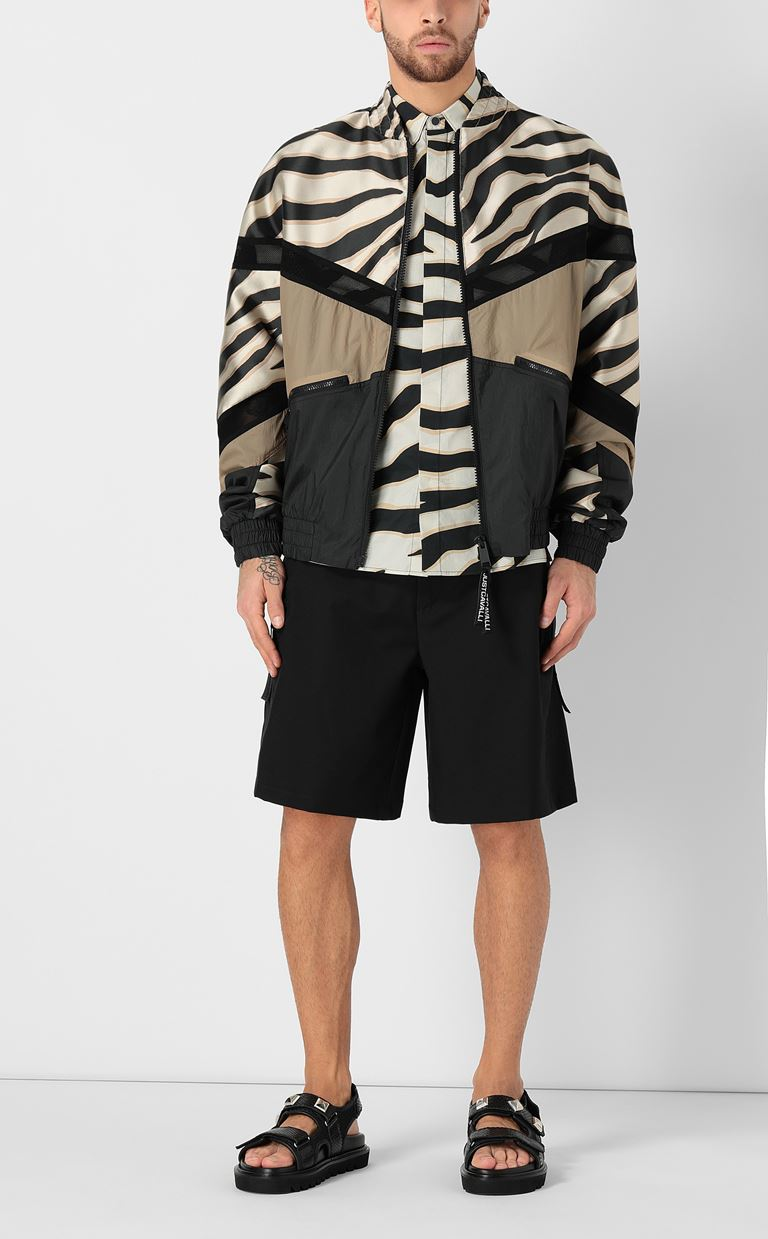 JUST CAVALLI Zebra-striped bomber jacket Jacket Man d