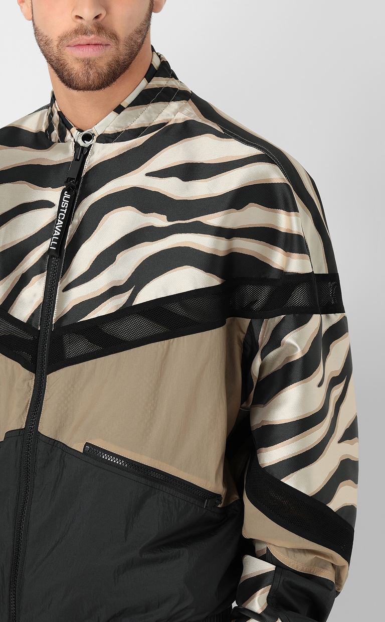 JUST CAVALLI Zebra-striped bomber jacket Jacket Man e