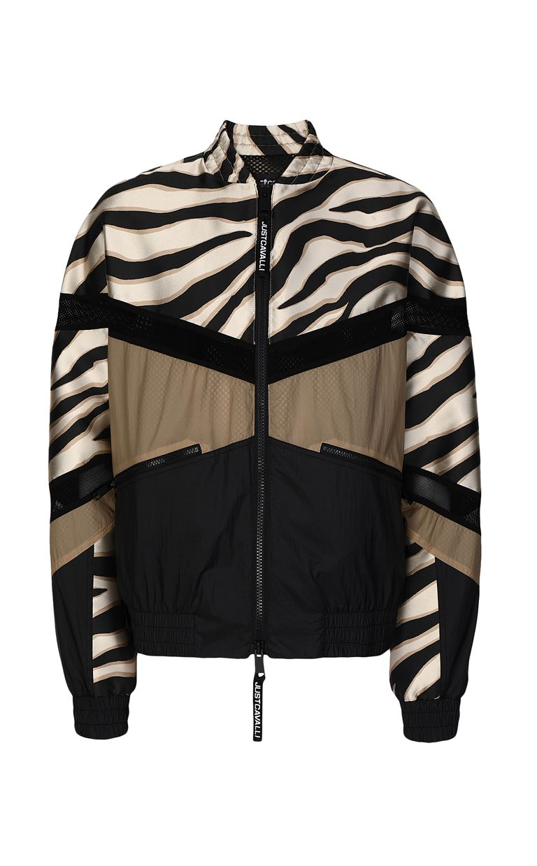JUST CAVALLI Zebra-striped bomber jacket Jacket Man f