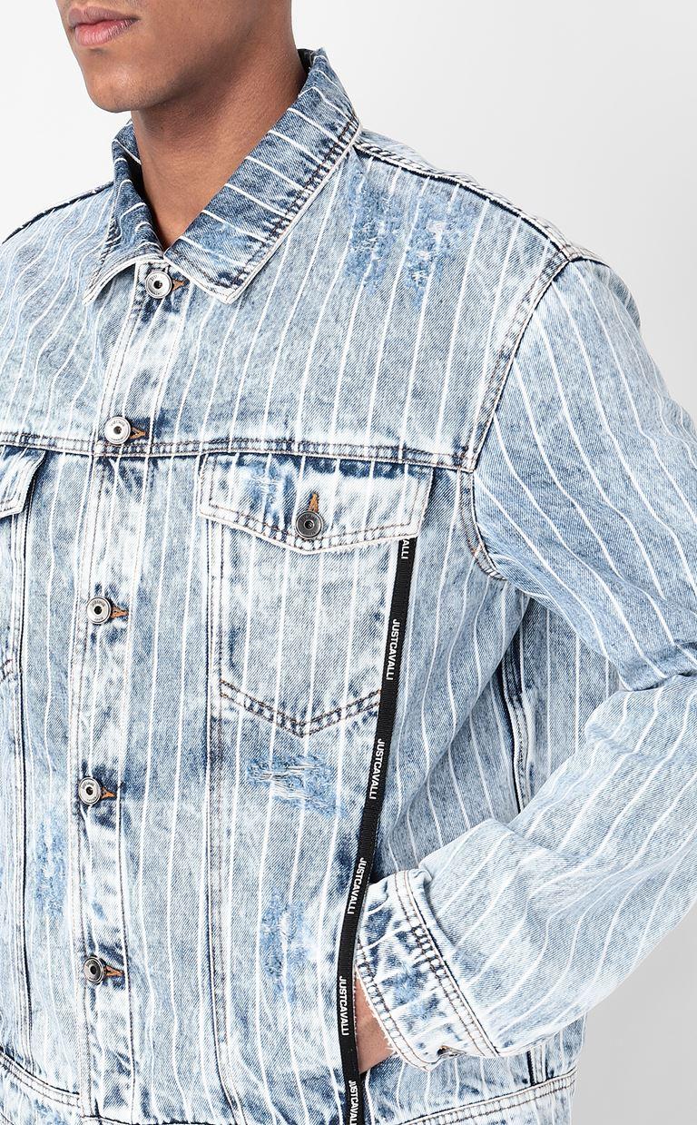 JUST CAVALLI Denim jacket Denim Jacket Man e