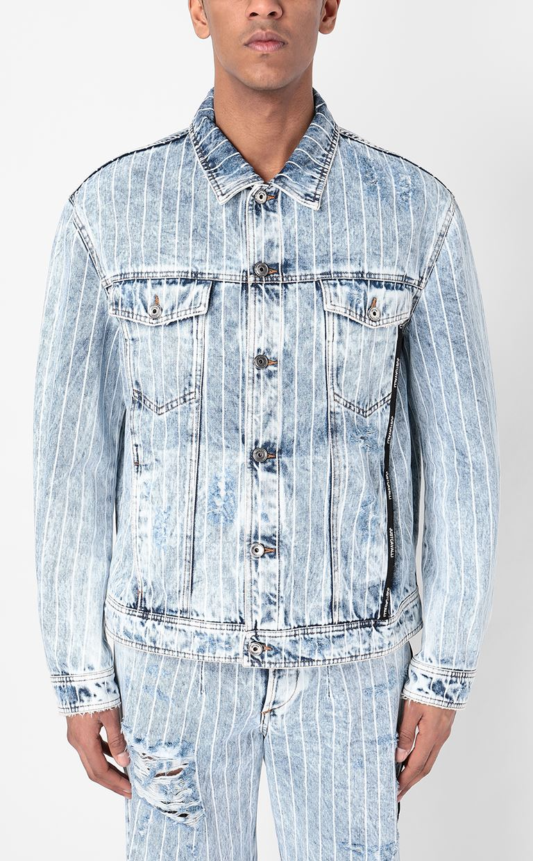 JUST CAVALLI Denim jacket Denim Jacket Man r