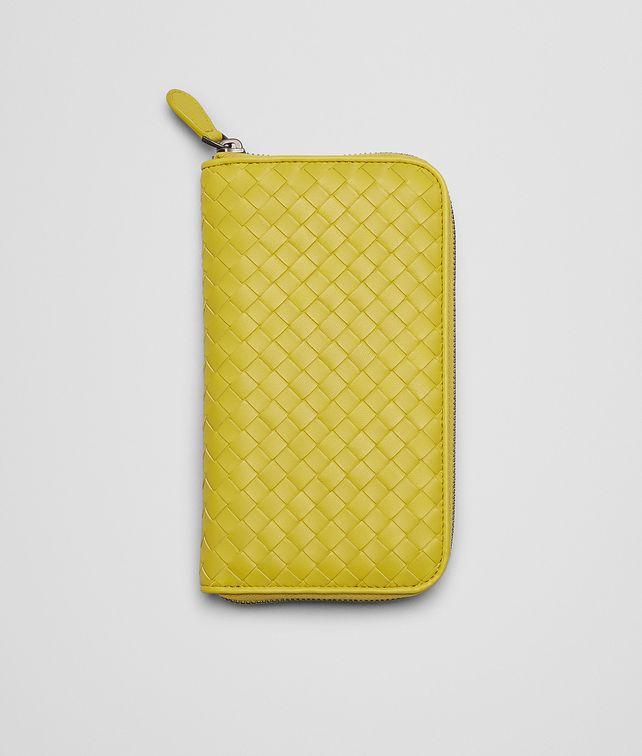 BOTTEGA VENETA Portemonnaie MIT ZIP AUS NAPPALEDER INTRECCIATO NEW CHARTREUSE Portemonnaie mit Zip D fp